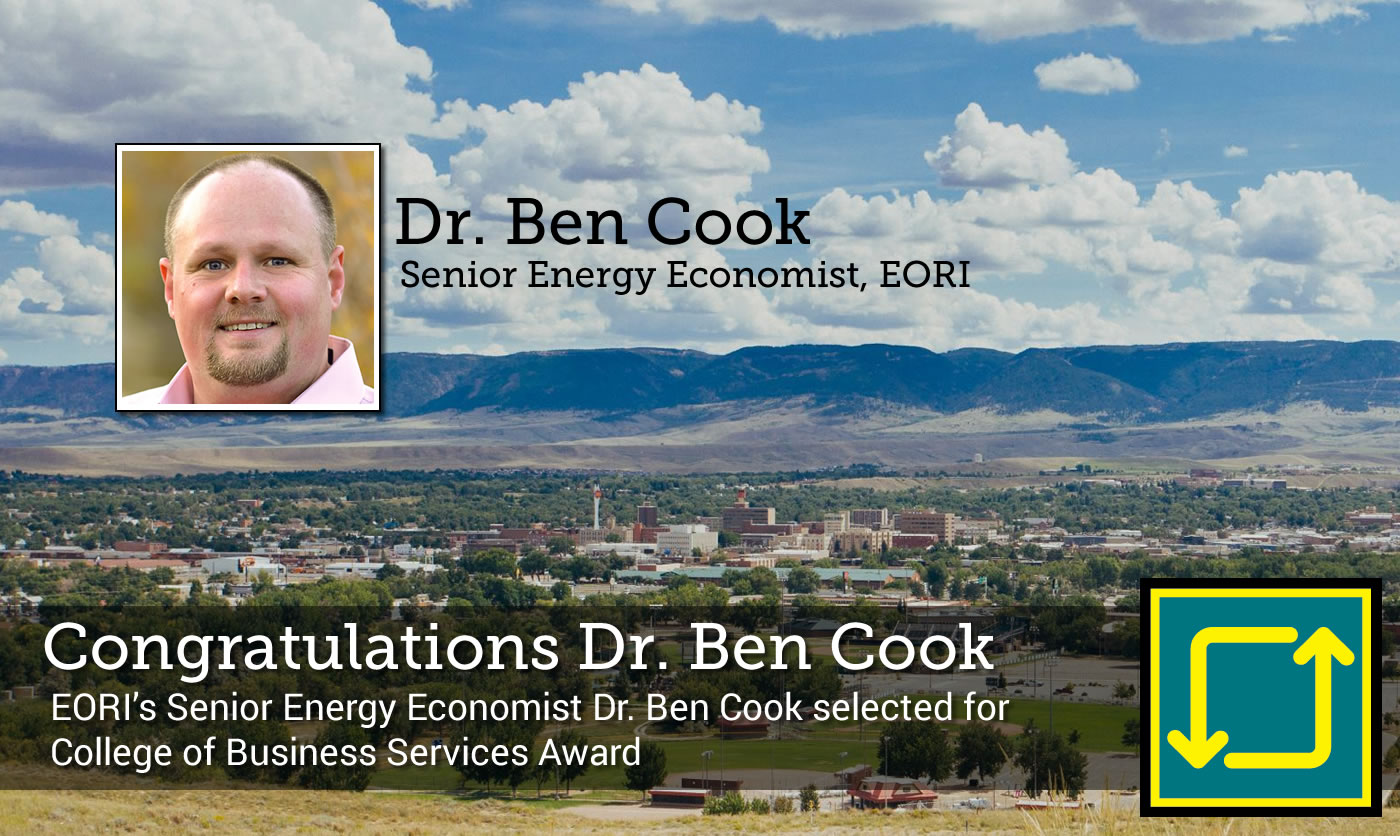 EORI's Senior Energy Economist Dr. Ben Cook selected for College of Business Services Award