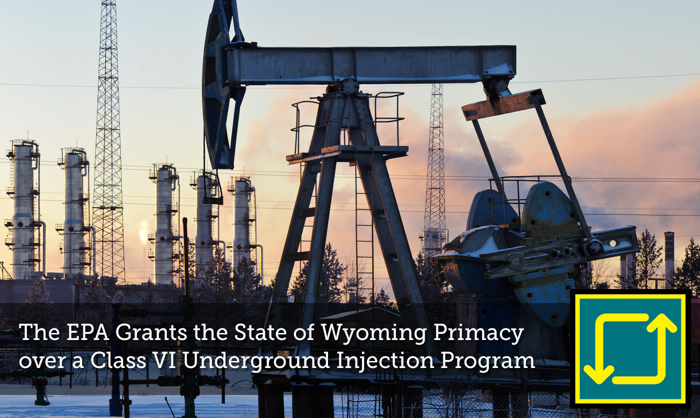 EPA Grants the State of Wyoming Primacy