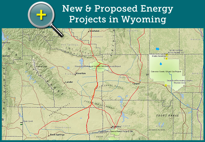 New & Proposed Energy Projects in Wyoming