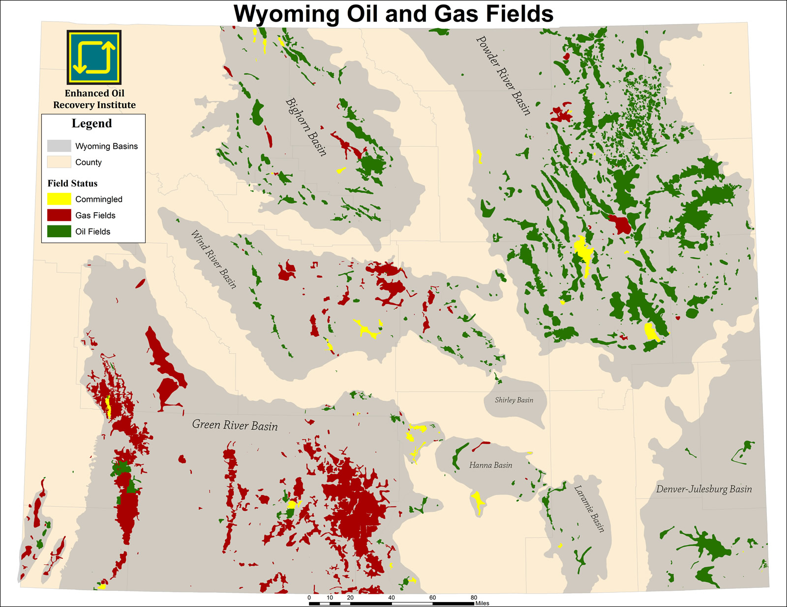 All Wyoming Oil & Gas Fields
