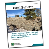 Report on Mowry Shale Thermal Maturity Mapping in the Powder River Basin, Wyoming