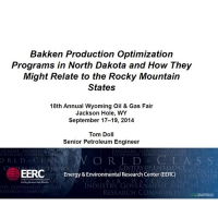 Bakken Production Optimization Programs in North Dakota and How They Might Relate to the Rocky Mountain States