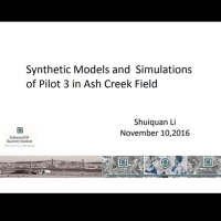 Synthetic Models and Simulations of Pilot 3 in Ash Creek Field