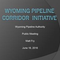 Wyoming Pipeline Corridor Initiative